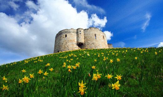 Cliffords Tower in the Historic City of York - Wayside Park & Lakes