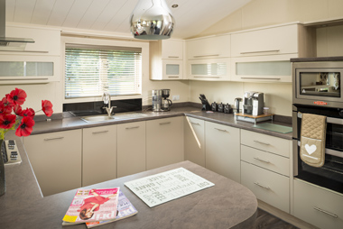 Example Lodge Kitchen Interior - Wayside Park & Lakes