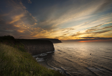 Dramatic Sky Over Yorkshire Coastline - Wayside Park & Lakes