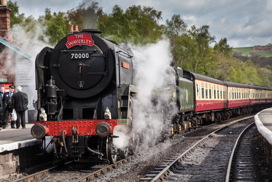 Steam Train on North Yorkshire Moors - Wayside Park & Lakes