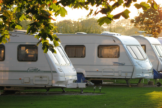 Seasonal Tourers at Wayside Park & Lakes